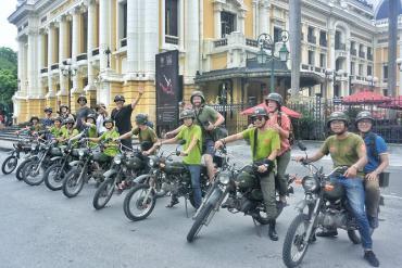 Wonderful Hanoi on motorbike and vintage jeep